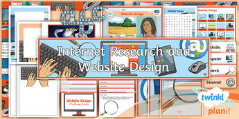 PlanIt - Computing Year 6 - Website Design Additional Resources - e-safety, research, website, webpages, images, www, internet
