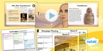 PlanIt - History UKS2 - Ancient Egypt Lesson 4: Tutankhamun Lesson Pack
