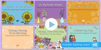 Mother's Day Songs and Rhymes PowerPoints Pack - EYFS, Early Years, Key Stage 1, KS1, Mother's Day, Mothering Sunday, Mother, Mummy, Mum, parent, ca