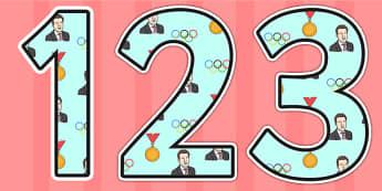 Sebastian Coe Themed Display Numbers - sebastian coe,  display numbers, themed number, classroom number, numbers for display, numbers for display, display