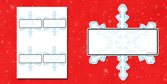 Editable Self Registration Snowflakes - self registration, self-registration, editable, snowflakes, snowflake, editable snowflake, snowflake label, self registration snowflakes, editable labels, editable self registration labels, labels, registration