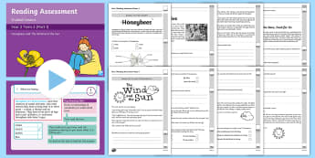 Year 2 Term 2 Paper 1 Reading Assessment Bumper Resource Pack - Year 2, Y2, reading, SATS, SAT, booklet, assessment, assess, KS1, fiction, non-fiction, review, pape