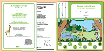 Quiet Time Box to Support Teaching on Rumble in the Jungle  - Rumble in the Jungle, Giles Andreae, Rainforest, jungle animals, jungle, animals, activities,