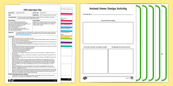 EYFS Animal Homes Adult Input Plan and Resource Pack
