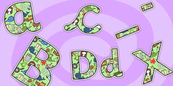Letters and Sounds Themed A4 Display Lettering-letters and sounds, display lettering, sounds display lettering, letters display lettering