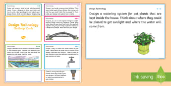 Year 3 and 4 Design Technology Challenge Cards - Australia YR 3 and 4 Design Technology, design technology, challenge cards, design challenge, sustai