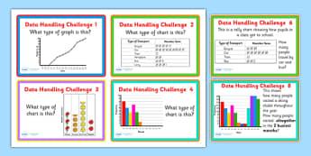 Data Handling Challenge Cards - data handling problems, data handling questions, data handling problem cards, data handling challenges, data, ks2 maths