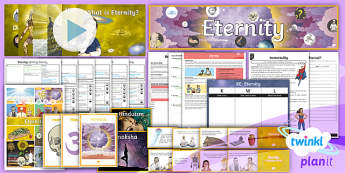 PlanIt - RE Year 6 - Eternity Unit Pack - Eternity, year 6 re, re, christianity, sikhism,
