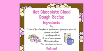 Hot Chocolate Cloud Dough Recipe - hot chocolate, cloud dough, recipe