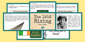 Irish History 1916 Rising Interesting Facts Display Cards - irish history, 1916 rising, easter rising, facts, interesting facts, display posters, ireland