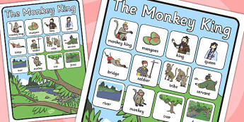 The Monkey King Vocabulary Poster - vocabulary, poster,  monkey