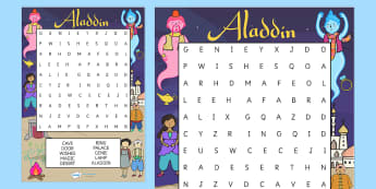 Aladdin Wordsearch - aladdin, wordsearch, word games, literacy