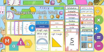 Interactive Math Wall PK - 5 Display Pack