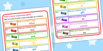 Conjunction Practice Pick A Sweet Game - games, card games, SEN