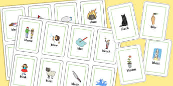 BL Flash Cards - bl sound, flash cards, flash, cards, sound, bl, sen