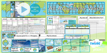 PlanIt - Geography Year 4 - All Around the World Unit Pack - planit, geography