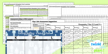 PlanIt - Geography Year 3 - Land Use Unit Assessment Pack - planit, geography, year 3, land use, unit, assessment, pack