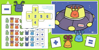 Alien Counting Activity to Support Teaching on Aliens Love Underpants - aliens love underpants, alien, counting activity, alien counting activity, numeracy, maths, numbers