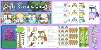 Classroom Set Up Owl Theme Display Pack - New Zealand Back to School, nz, new year, new class, new term