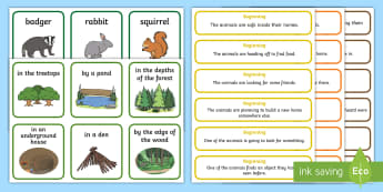 Woodland Adventure Story Writing Prompt Cards - EYFS Owlets, Owl Babies, Martin Waddell, woodland, forest, woods, trees, owl, baby, home, story, sto