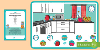 Food Can You Find...? Poster and Prompt Card Pack - Food, cooking, kitchen, food preparation, eating, feeding