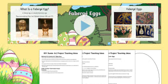 KS1 Easter Art Lesson Pack - Easter, RE, religious education, art, design, KS1, key stage one, Y1, Y2, year 1, year one, year 2,