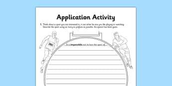 The Prefix in- Application Activity Sheet - GPS, grammar, spelling, punctuation, root word, worksheet