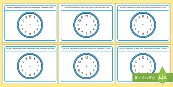 O'Clock and Half Past Time Playdough Mats - time, oclock, half past, digital, telling the time, clocks