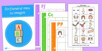 Dicționar cu imagini - Cartonașe cu părți ale corpului