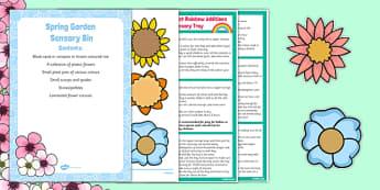 Spring Garden Sensory Bin - EYFS, Flowers, growing, planting, spring, garden, sensory bin