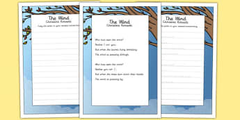 The Wind KS2 Handwriting Practice - ks2, handwriting, practice, wind