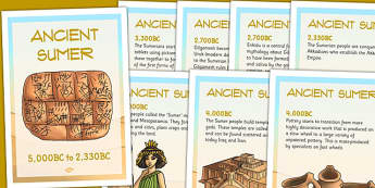 Ancient Sumer Timeline Posters - sumer, timeline, history, iraq