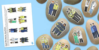 People Who Help Us Story Stones Image Cut Outs - people who help us, story stones, image, cut outs