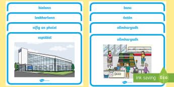 My Area Display Posters Gaeilge - Gaeilge - Sa Bhaile, Irish, my area, where I live, mo cheantar, Irish