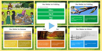 Weather in Germany PowerPoint German - Weather, Germany, German, Wetter, Deutschland, mfl, languages, ks2, vocabulary