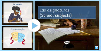 School Subjects PowerPoint Spanish