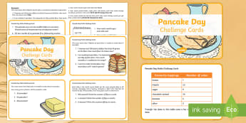 Year 3 Pancake Day Maths Challenge Cards -  Maths, Pancake Day, challenge, challenge cards, Pancake Day Maths, Year 3 number, Year 3 Maths, Yea