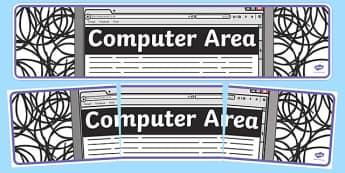 Computer Area Display Banner - computer area, display, photo banner, banner, display banner, display header, themed banner, photo display, photos