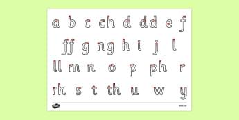 Ffurfio Llythrennau'r Wyddor - welsh, cymraeg, Llythrennau'r, ffurfio, alphabet, letter formation