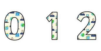 Tim Berners Lee Themed A4 Display Numbers - tim berners lee, display numbers, themed number, classroom number, numbers for display, a4 numbers, numbers