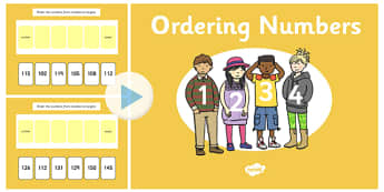 Ordering 3 Digit Numbers Flipchart - order, numbers, numeracy