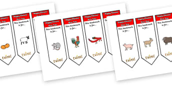 Australia Chinese New Year Bookmarks With Text - Chinese New Year, Bookmark, bookmark template, China