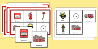 Fire Safety Themed Bingo - fire safety, themed, bingo, activity, game