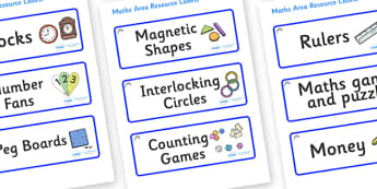 Bluebells Themed Editable Maths Area Resource Labels - Themed maths resource labels, maths area resources, Label template, Resource Label, Name Labels, Editable Labels, Drawer Labels, KS1 Labels, Foundation Labels, Foundation Stage Labels, Teaching L