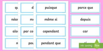 Extend Sentences Using Conjunctions Word Cards