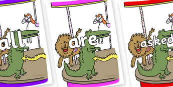 Tricky Words on Trick 3 to Support Teaching on The Enormous Crocodile - Tricky words, DfES Letters and Sounds, Letters and sounds, display, words