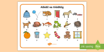 CfE Early Level Mata Aibideil Alphabet Mat Gaelic - first, language, alphabet mat, letters, sounds, mat, Scottish