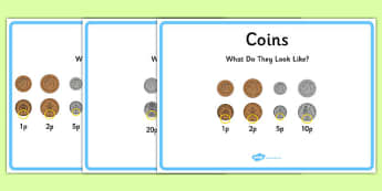 Maths Intervention Posters - SEN, special needs, maths, money, counting money, recognising money, adding money, coins, notes
