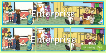 Enterprise Display Banner - CfE Enterprise, financial education,Scottish