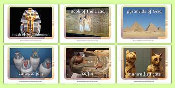Ancient Egyptian Artefacts Display Photos - egypt, history, KS2